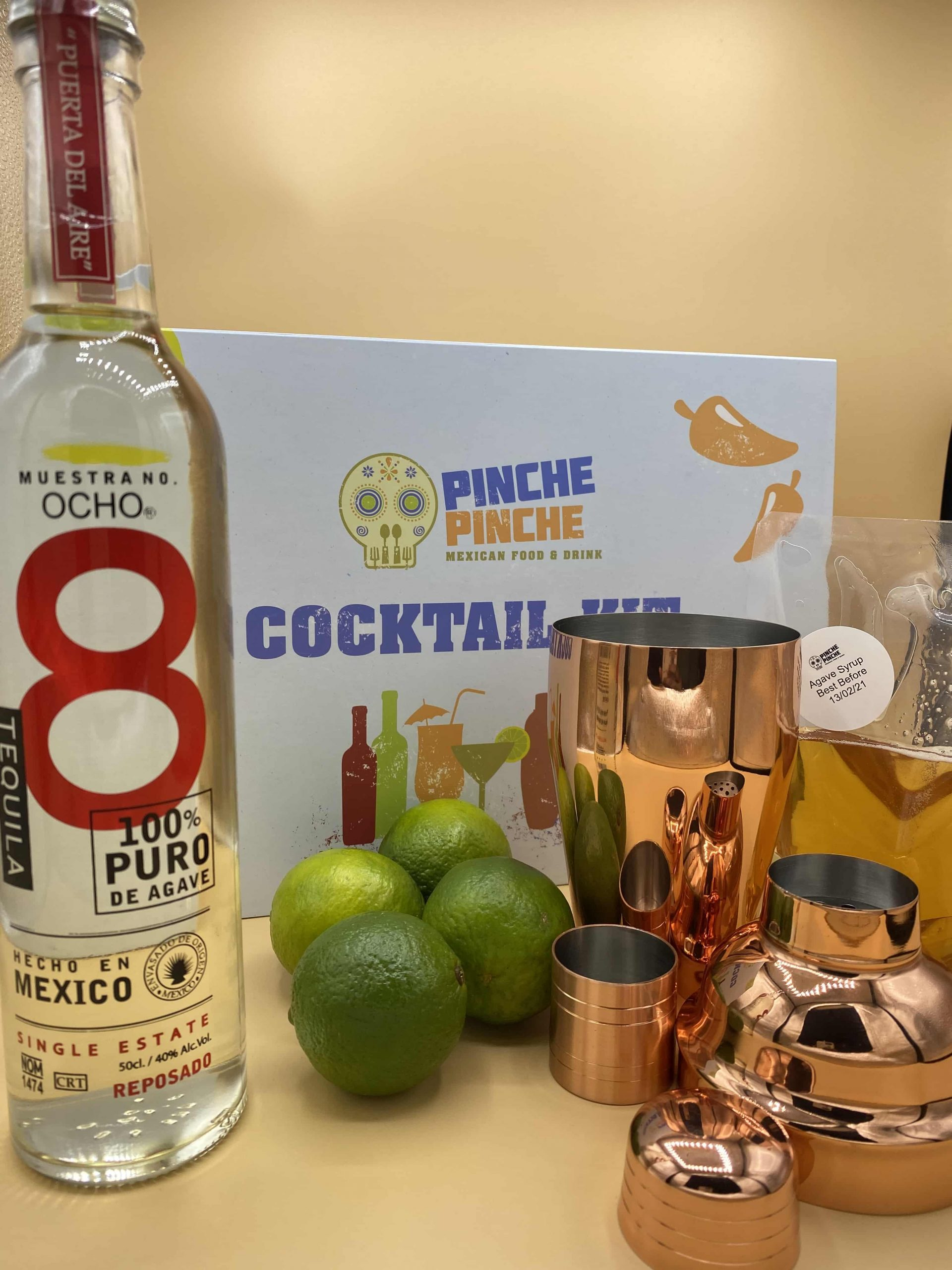 Picture showing a cocktail kit and contents