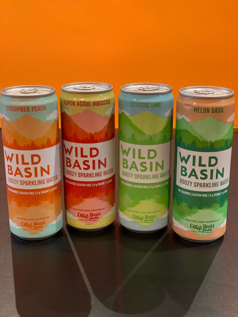 Picture showing cans of Wild Basin