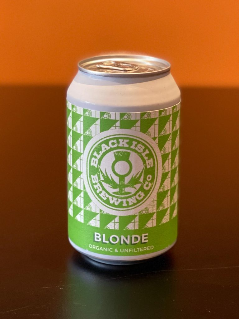 Picture showing a can of Black Isle Brewing Blonde Lager