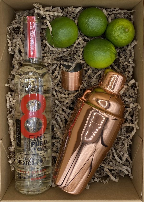 Picture showing the contents of a Cocktail Kit box
