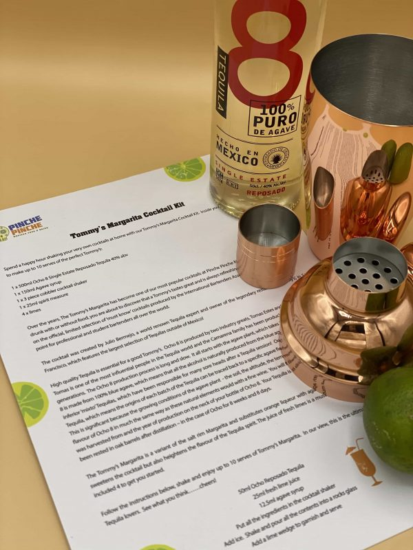 Picture showing cocktail kit instructions